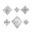 Russian textile elements vector image