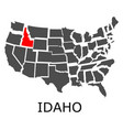 state of idaho on map of usa vector image