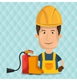 worker fire extinguisher boots vector image