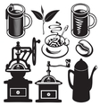 set of utensils for hot drinks vector image