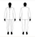 mans black silhouette figure vector image vector image