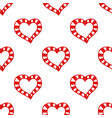 seamless pattern of decorative red hearts vector image