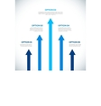 Infographics template with arrows vector image vector image