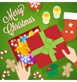 Flat Style Christmas Card or Background vector image vector image