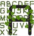 shamrock alphabet vector image vector image