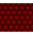 Snowflakes Red Background with Seamless Pattern vector image