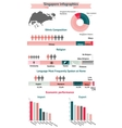 Singapore infographics statistical data vector image
