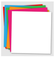 Abstract colorful background with paper layers vector image