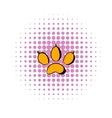 Animal paw icon comics style vector image