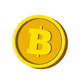 bitcoin virtual money currency vector image