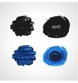 Black and blue grunge hand drawn round blobs vector image