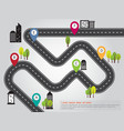 City location road map info graphic vector image