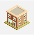 flat 3d isometric house - vector image