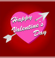 happy valentine day vintage card with lettering vector image