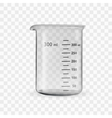 laboratory glassware or beaker vector image