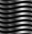 Metallic wave background vector image