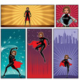 super heroine banners 5 vector image