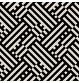 Op art seamless geometric striped pattern vector image