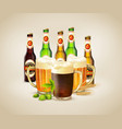 realistic beer background vector image