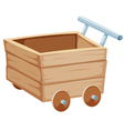 Wood trolley vector image