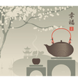 China tea vector image