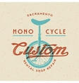 Mono-Cycle Custom Rental Shop and Repair Retro vector image vector image