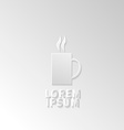 Icon flat element design coffee vector image
