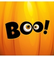 Funny Halloween greeting card vector image