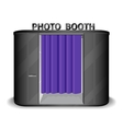 Black photo booth vending machine vector image vector image
