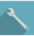 flat adjustable wrench vector image
