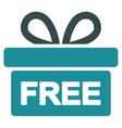 Gift icon from Business Bicolor Set vector image