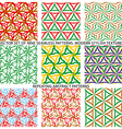Set Of Nine Textured Natural Seamless Patterns vector image