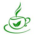 tea icon vector image