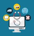 hospital medicine tools icon vector image