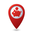 copypig icon red map pointer vector image