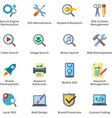 SEO and Internet Marketing Flat Icons - Set 1 vector image vector image