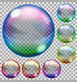Colored soap bubbles vector image