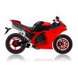 super bike vector image vector image