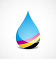 cmyk drop vector image