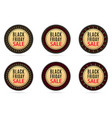 black friday sale round sticker with advertising vector image