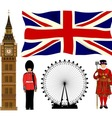 London Icons vector image