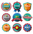 Set of retro vintage badges and labels Flat design vector image