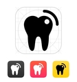 Tooth with caries icon vector image