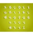 Paper Alphabets vector image vector image