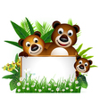 funny brown bear family vector image vector image