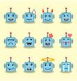 emojis flat robot set vector image vector image
