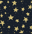 beautiful seamless night sky pattern with textured vector image