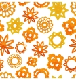 Watercolor abstract flower seamless pattern vector image
