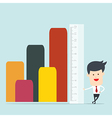 Business man use ruler measure vector image vector image