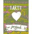 creative artistic background Art invitation vector image